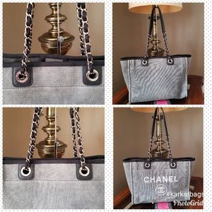 CHANEL Bags - Authentic Chanel Deauville Tote Grey